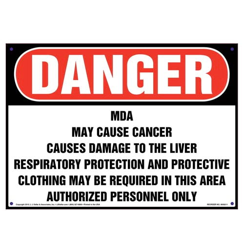 Danger: MDA, Authorized Personnel Only Sign - OSHA (010016)