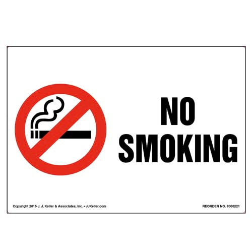 No Smoking Label with Icon (010026)