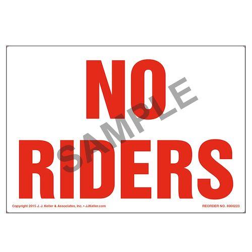 No Riders Label (010028)