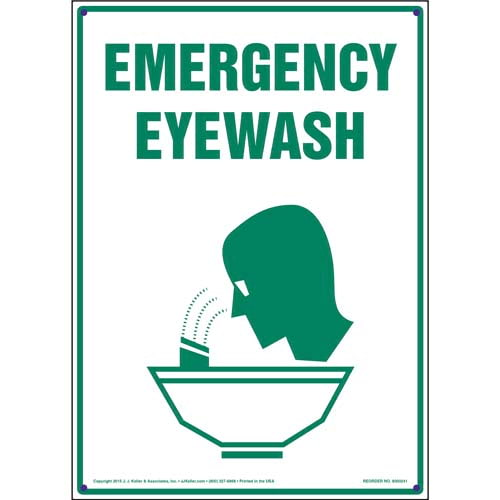 Emergency Eyewash Sign (010046)