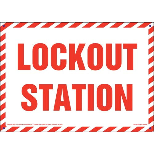 Lockout Station Sign (010048)