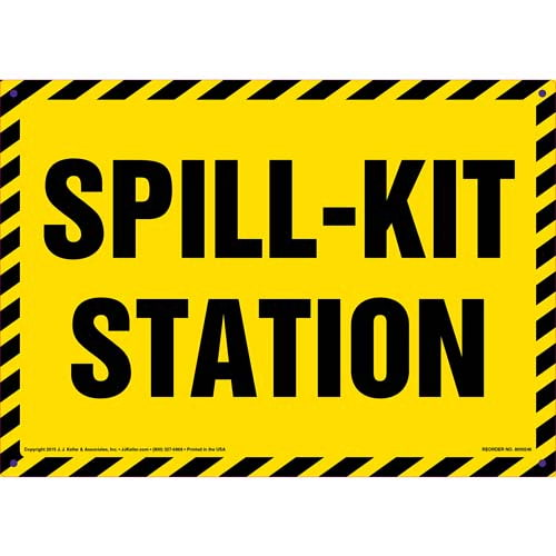 Spill-Kit Station Sign (010051)