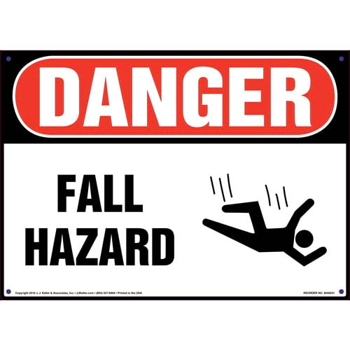 Danger: Fall Hazard - OSHA Sign (010056)