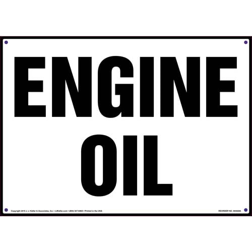 Engine Oil Sign (010071)