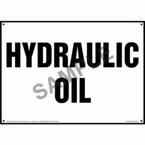 Hydraulic Oil Sign (010072)