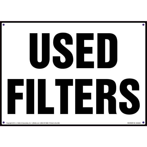 Used Filters Sign (010073)