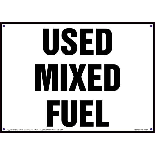 Used Mixed Fuel Sign (010075)