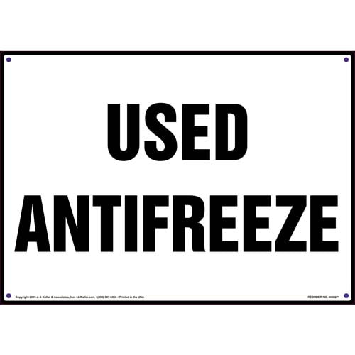 Used Antifreeze Sign (010076)