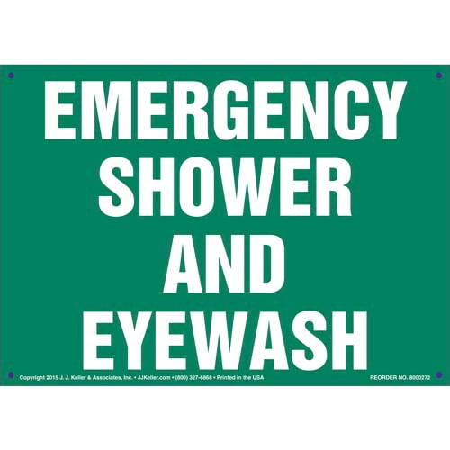 Emergency Shower & Eyewash Sign (010077)