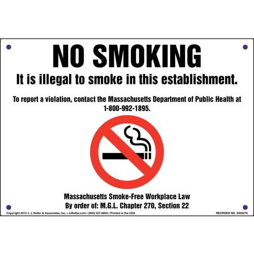 Massachusetts: No Smoking Sign (010083)