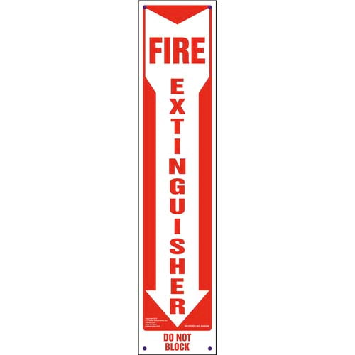 Fire Extinguisher, Do Not Block Sign - Vertical (010091)