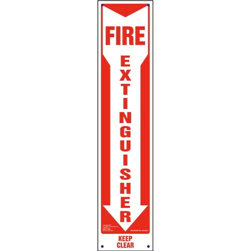 Fire Extinguisher, Keep Clear Sign - Vertical (010092)