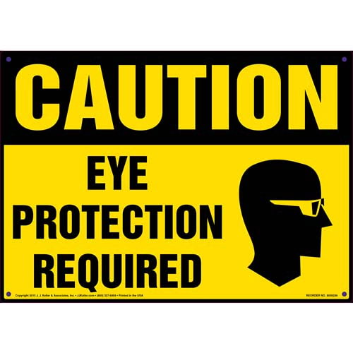 Caution: Eye Protection Required - OSHA Sign (010094)