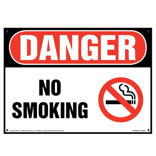 Danger: No Smoking Sign with Icon - OSHA (010103)