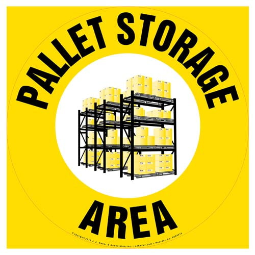 Pallet Storage Area - Floor Sign (010120)