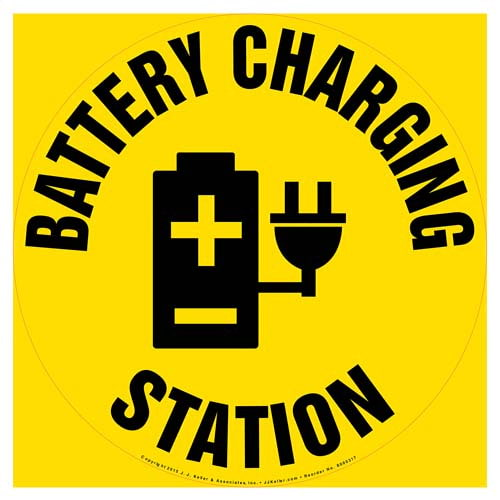 Battery Charging Station - Floor Sign (010122)