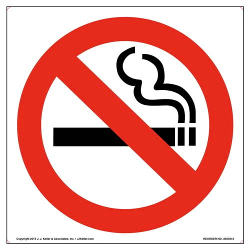 No Smoking Sign and Label - Wordless (010123)
