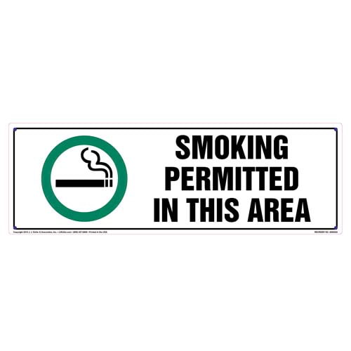 Alaska: Smoking Permitted In This Area Sign (010125)