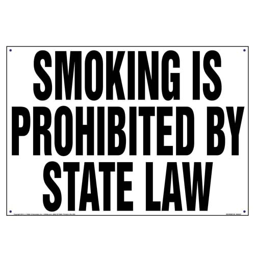 Connecticut: Smoking Is Prohibited By State Law Sign (010132)