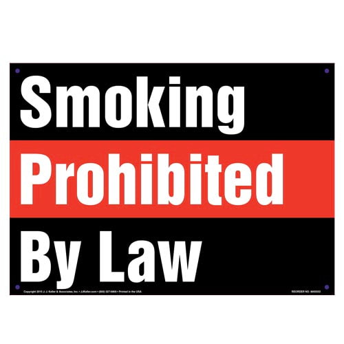 Hawaii: Smoking Prohibited By Law Sign (010138)