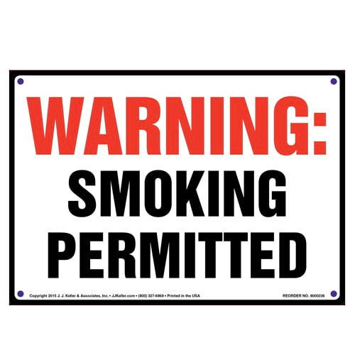 Idaho: Warning Smoking Permitted Sign (010141)