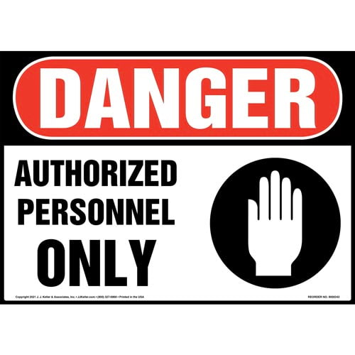 Danger: Authorized Personnel Only Sign with Icon - OSHA (010148)
