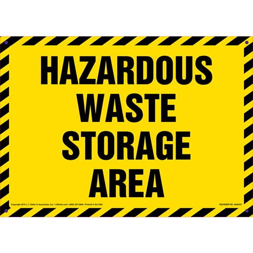 Hazardous Waste Storage Area Sign (011485)