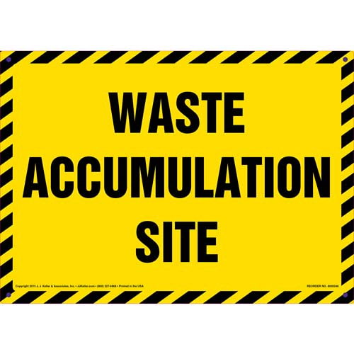 Waste Accumulation Site Sign (011486)