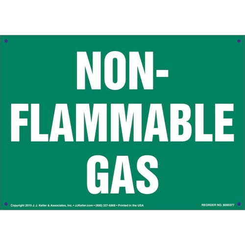 Non-Flammable Gas Sign (011515)