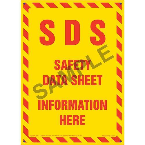 sds safety data sheet information here sign. Black Bedroom Furniture Sets. Home Design Ideas