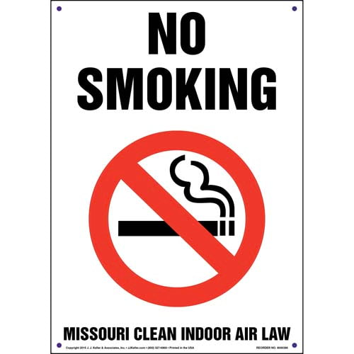 Missouri Clean Indoor Air Act: No Smoking Sign (011524)