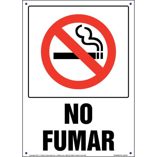 No Smoking Sign with Icon - Spanish, Portrait (011535)