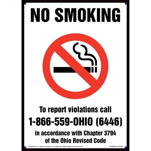 Ohio: No Smoking Sign (011538)