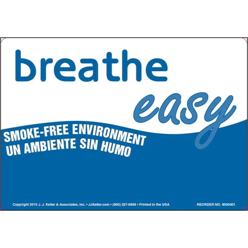 Oklahoma: Breathe Easy Smoke-Free Environment Label - Bilingual (011539)