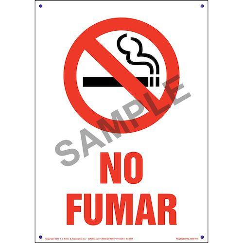 Pennsylvania: No Smoking Sign - Spanish (011542)