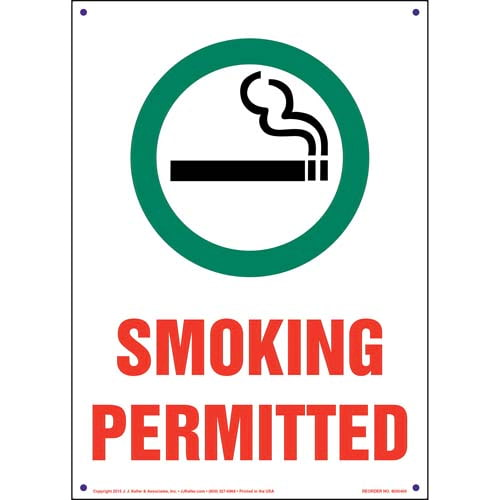 Pennsylvania: Smoking Permitted Sign - Spanish (011543)