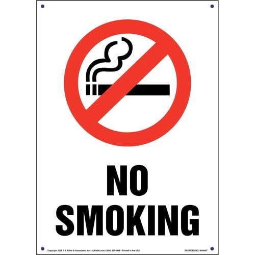 No Smoking Sign with Icon - Portrait (011545)