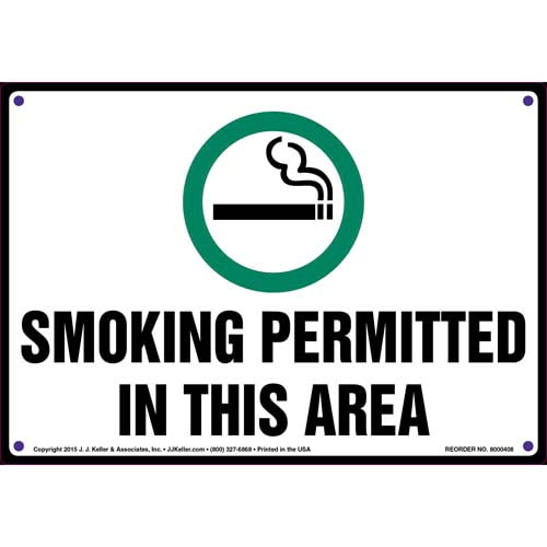 Smoking Permitted In This Area Sign (011546)