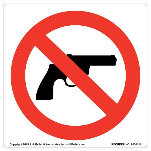 No Handguns Symbol Label (011552)