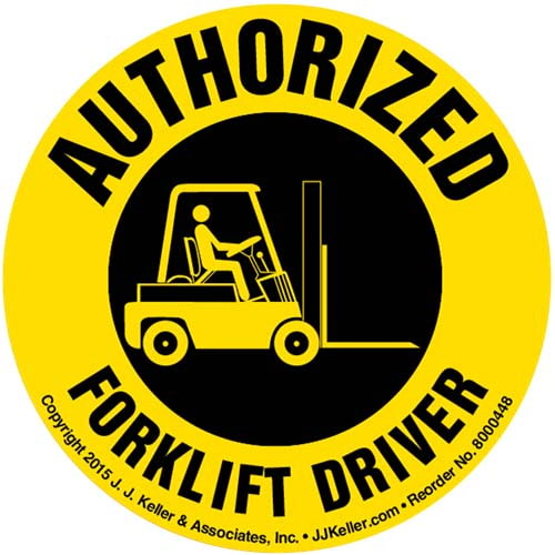Authorized Forklift Driver Hard Hat/Helmet Decal (010416)