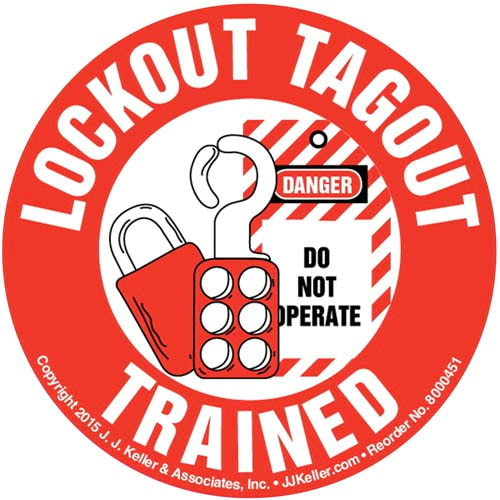 LockOut TagOut Trained - Hard Hat/Helmet Decal (010419)