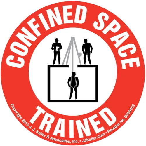 Confined Space Trained Hard Hat/Helmet Decal (010420)