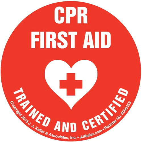 CPR First Aid Certified And Trained - Hard Hat/Helmet Decal (010421)