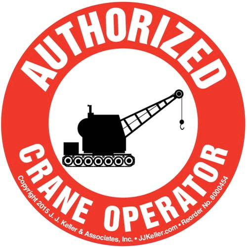 Authorized Crane Operator Hard Hat/Helmet Decal (010422)