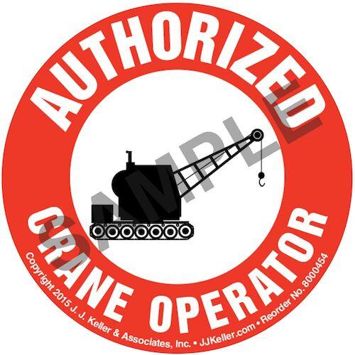 Certified Crane Operator - Hard Hat/Helmet Decal (010422)