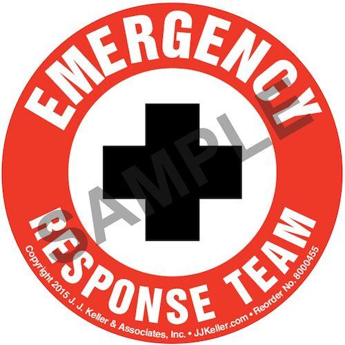 Emergency Response Team - Hard Hat/Helmet Decal (010423)