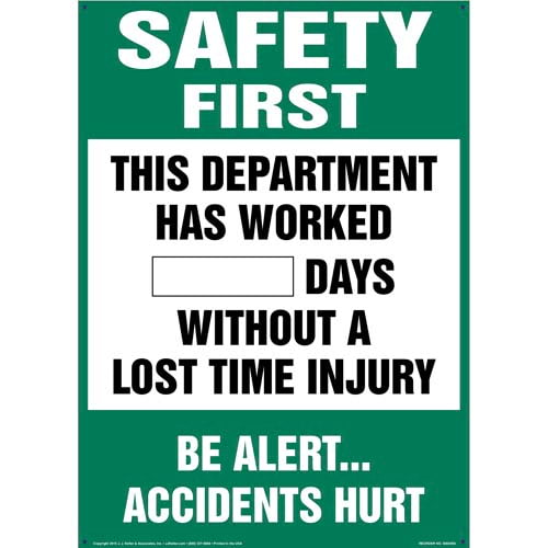Safety Starts With You - Write-A-Day Scoreboard (010426)
