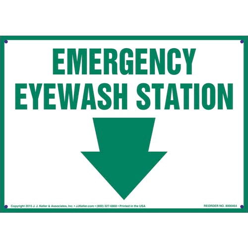 Emergency Eyewash Station Sign (010432)