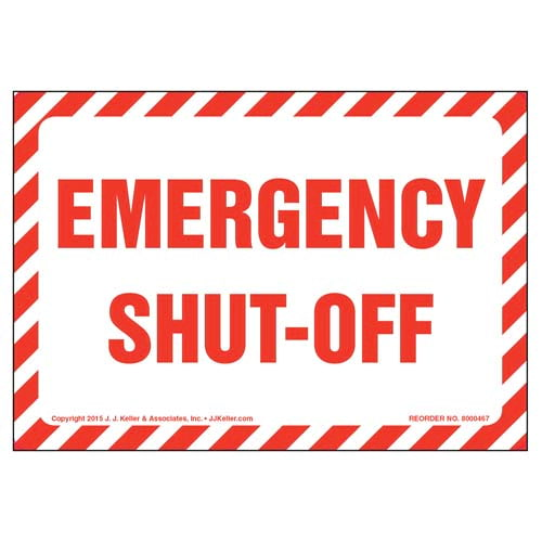 Emergency Shut-Off Label (010435)