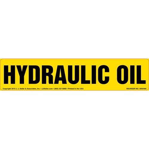 Hydraulic Oil Label (010436)
